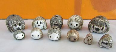Briglin Pottery - A collection of studio pottery novelty money boxes, figures and cruets in the form