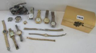 A collection of various wristwatches to include a Swatch Automatic gent's watch with exhibition