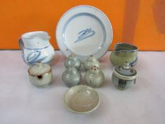 Harry Davis & May for Crowan Pottery mixed collection of mainly celadon and Chinese type ceramic