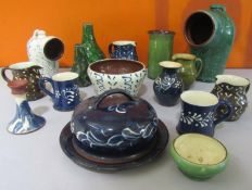 Scofield & Wetheriggs of Penrith Pottery - Collection of studio pottery pieces with various