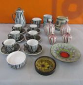 A collection of London based studio pottery to include John Virando of Richmond Hill mug, Chelsea