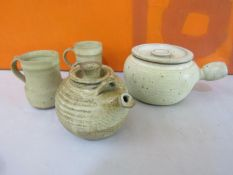 Probably Ray Finch for Winchcombe pottery - Collection of celadon and salt glazed studio pottery