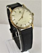 Vintage gent's Tissot Stylist 9ct dress watch, 17 jewel movement, silvered dial with baton