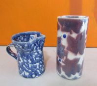 Probably Stephen Course for Dartington Pottery - Studio pottery glazed square cylinder vase with