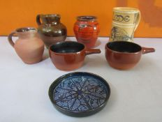 Collection of Cornish Studio pottery to include three Lakes of Truro, Bert Middleton of Looe