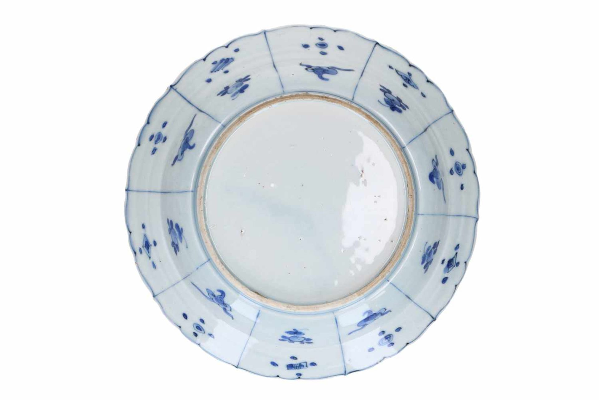 A blue and white 'kraak' porcelain dish, decorated with birds. Unmarked. China, Wanli. - Bild 2 aus 3