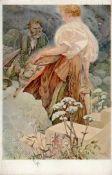 Kunst u. Kultur,Berühmte Maler,MuchaMucha, A. Blahoslaveni milosrdni Künstlerkarte I-IIDieses Los