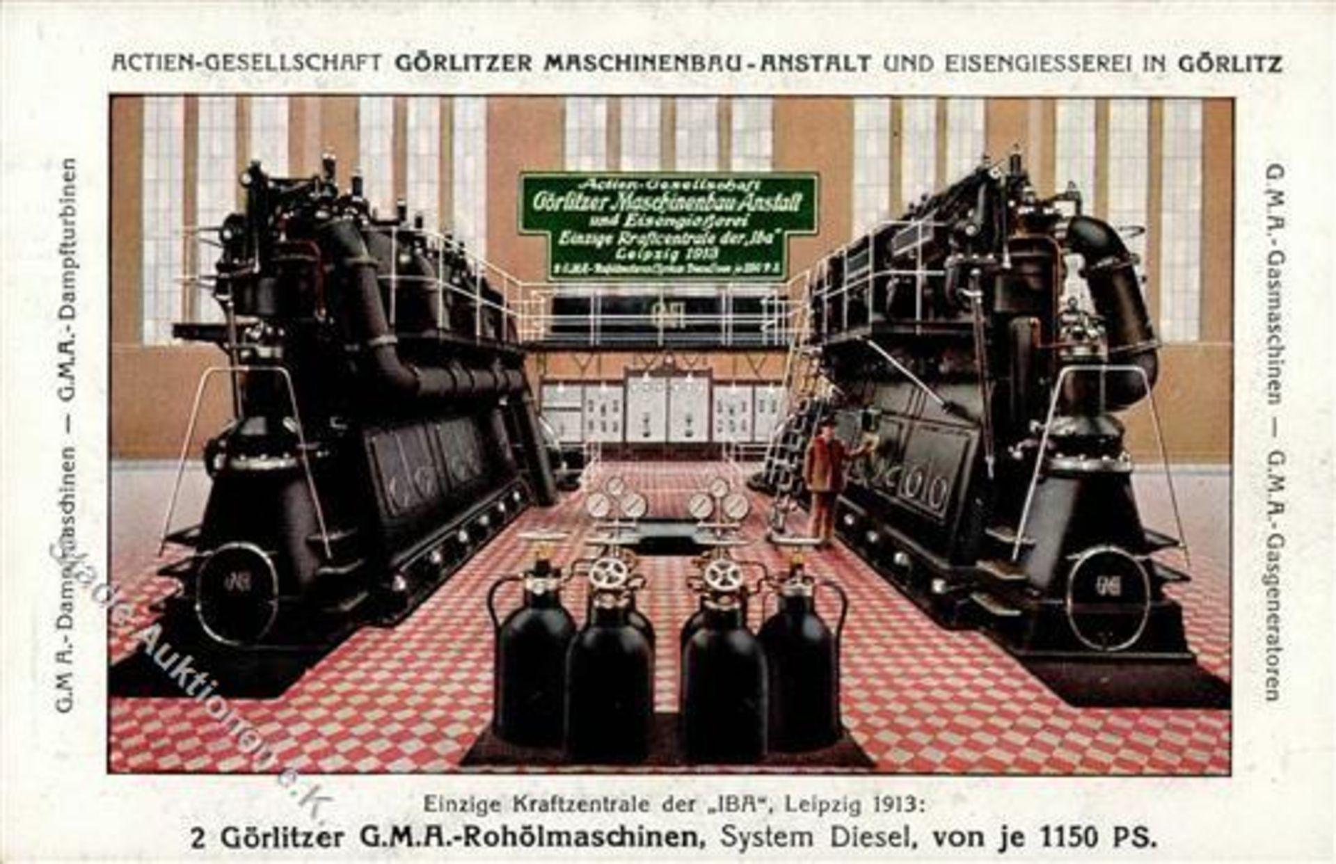 Görlitz (O8900) Maschinenbau-Anstalt und Eisengiesserei I-II (Ecken abgestossen)Dieses Los wird in