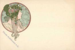 Kunst u. Kultur,Berühmte Maler,MuchaMucha, Alfons Byzantine Head brunett I-IIDieses Los wird in