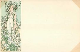 Kunst u. Kultur,Berühmte Maler,MuchaMucha, Alfons Frau Jugendstil I-IIDieses Los wird in einer