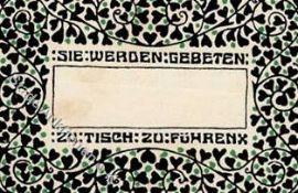 Kunst u. Kultur,Kunst,Wiener WerkstaettenWiener Werkstätte Tischkärtchen I-II (fleckig)Dieses Los