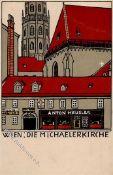 Kunst u. Kultur,Kunst,Wiener WerkstaettenWiener Werkstätte 140 Janke, Urban (?) Wien Die Michaeler