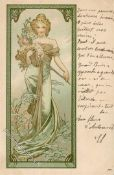 Kunst u. Kultur,Berühmte Maler,MuchaMucha, Alfons Frau Jugendstil 1903 I-IIDieses Los wird in