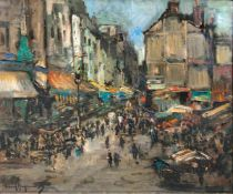 Paul Hagemans(Antwerpen 1884 - Antwerpen 1959)Rue Mouffetard in ParisÖl/Lw., 70 x 80 cm, l. u. sign.