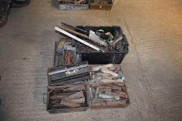 Qty Tools, Wedges, Spirit Level Etc
