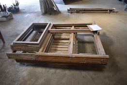 Qty of Wooden Window Frames