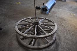Pair of Smyth Drill Wooden Wheels