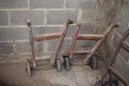 2 Wooden Sack Trucks