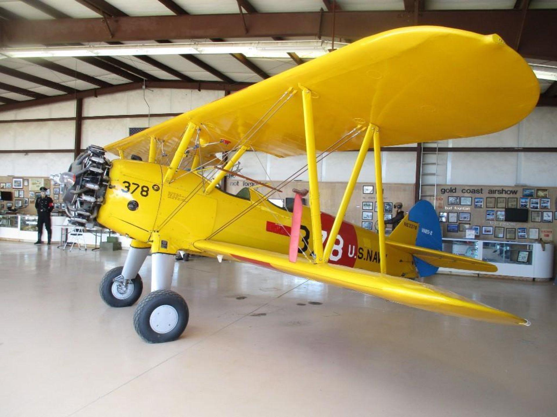 1937 BOEING A-75 STEARMAN N63378 S/N/ 75-254 - Image 4 of 7