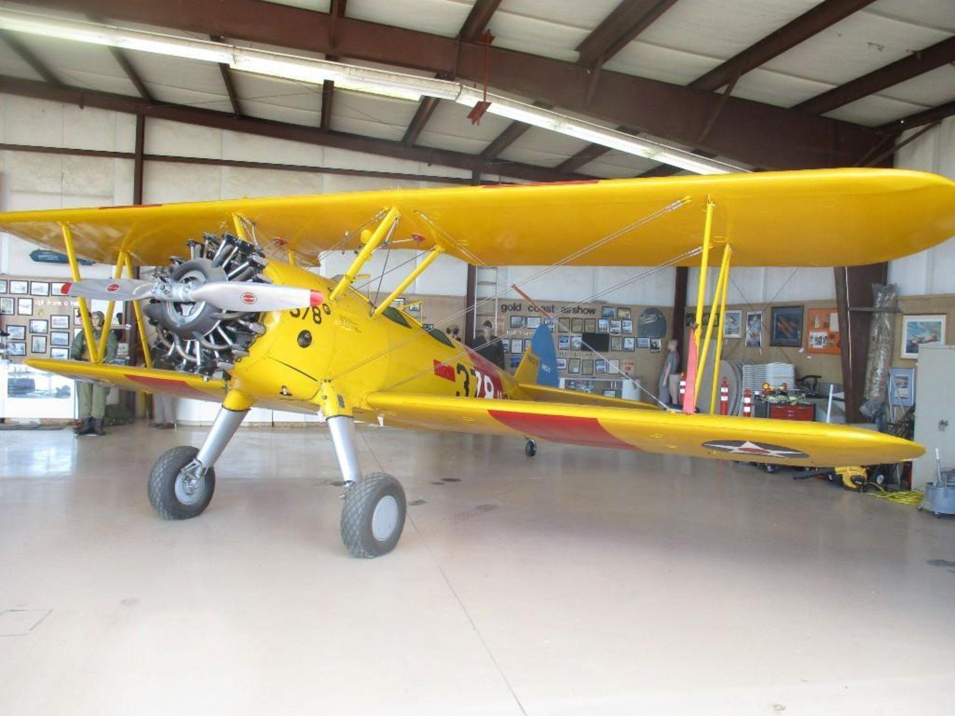 1937 BOEING A-75 STEARMAN N63378 S/N/ 75-254 - Image 3 of 7