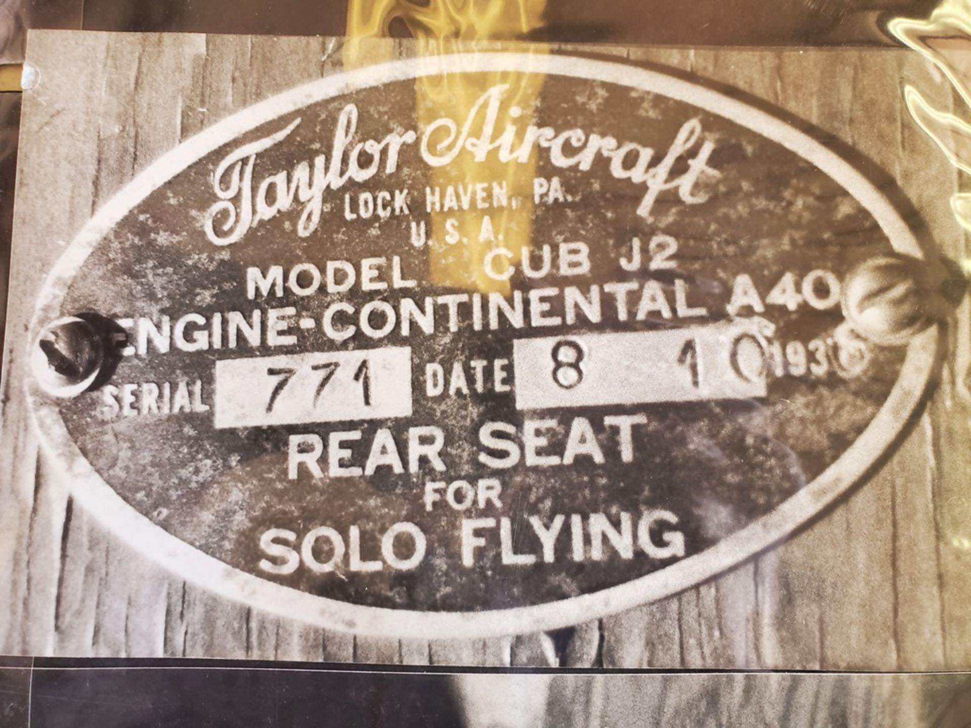 1936 TAYLOR/PIPER J2 CUB N16769 S/N 771 - Image 4 of 4