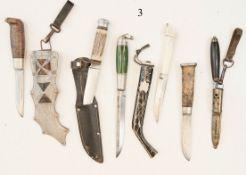 Konvolut 6 Messer