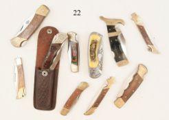 Konvolut 10 Taschenmesser