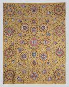 Large All Silk Turmeric Golden Shakhrisyabz Suzani