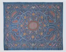 Giant All Silk Teal Colour Shakhrisyabz Suzani