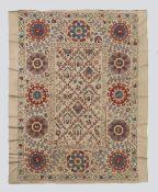 All Silk Bukhara Lattice Design Suzani