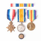 GERMAN EAST AFRICA WWI TRIO. 1914-15 STAR BRITISH WAR MEDAL & VICTORY MEDAL