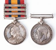 KILLED IN ACTION BOER WAR WW1 PAIR. BOER WAR QUEEN'S SOUTH AFRICA MEDAL TO BORDER HORSE, GORRINGE'S