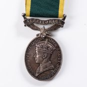 WWII WARRANT OFFICERS ROYAL ENGINEERS, VETERANS TERRITORIAL ARMY MEDAL