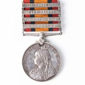 BOER WAR QUEEN'S SOUTH AFRICA MEDAL TO PROVISIONAL MOUNTED POLICE AND MINE DIVISION RAND RIFLES