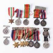 LOT OF 14 WW2 ASSORTED MINIATURE DRESS MEDALS