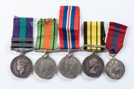 EAST AND NORTH AFRICAN CAMPAIGN SOUTH AFRICAN ENGINEER CORP OFFICER'S MEDAL GROUP