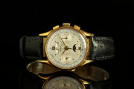 VERY RARE GENTLEMENS BREITLING TRI CALENDAR MOONPHASE CHRONOGRAPH LTD RUN WRISTWATCH REF. 791