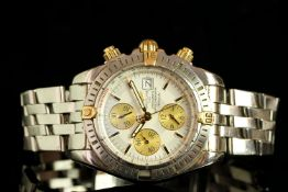 GENTLEMENS BREITLING AUTOMATIC CHRONOMAT EVOLUTION CHRONOGRAPH WRISTWATCH REF. B13356, circular
