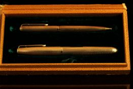 9CT PARKER 51 PEN PENCIL AND JOTTER BALLPOINT.stamped 375, comes in box with original instructions.