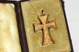 Knights templar cross pendant circa 1870, approximate length 4cm, approximate width 3cm, comes