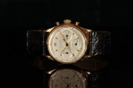 GENTLEMENS UNIVERSAL GENEVE CLIMATEPROOF COMPAX F.A.B. BRAZILLIAN AIR FORCE 18CT GOLD CHRONOGRAPH