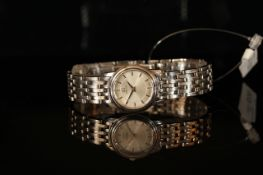 LADIES OMEGA DRESS WATCH NO 57803218,round,silver dial with silver sword hands, silver baton