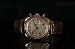 GENTLEMANS CUERVO Y SOBRINOS HABANA CHRONOGRAPH,round,silver dial with black hands,black arabic
