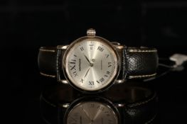 GENTLEMANS MONT BLANC PL 390106,round,silver dial and hands, silver arabic markers, snap back,