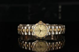 *** TO BE SOLD WITHOUT RESERVE*** LADIES' LONGINES CONQUEST WRISTWATCH, circular champagne dial with
