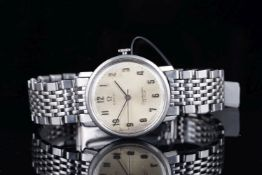 GENTLEMENS OMEGA SEAMASTER DE VILLE WRISTWATCH, circular cream dial with faceted Arabic numerals and