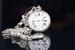 VINTAGE 925 STERLING SILVER POCKET WATCH, circular