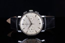 GENTLEMENS BREITLING 'BOW TIE' CHRONOGRAPH WRISTWATCH REF. 1192, circular two tone twin register bow