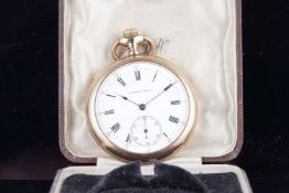 VINTAGE TAVANNES POCKET WATCH, VINTAGE GOLD PLATED