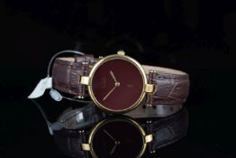 GENTLEMENS MUST DE CARTIER 925 VERMEIL WRISTWATCH,